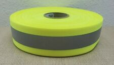 2 X 60 Yards Reflective Tape Sew On Lime Yellow Green Fabric Vest Trim Ribbon