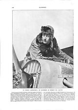 WWI Pilote Georges Guynemer Avion Nieuport Veste Fourrure de Chasse ILLUSTRATION