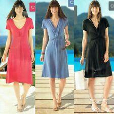 Damen schönes knielanges Sommerkleid Kleid aus Viskose kühlende Wirkung Öko-Tex