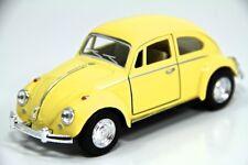 "5"" Kinsmart 1967 VW Volkswagen Beetle Diecast Model Toy Car 1:32 Pastel Yellow"