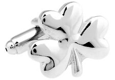 Shamrock Cufflinks 3 Leaf Clover Irish Wedding Fancy Gift Box Free Ship USA