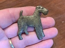 Large Antique Silver-Tone Scotty Scottish Terrier Pin, 2""