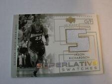 2004-05 UD Glass Jason Richardson Jersey Card Superlative Swatches (B24)