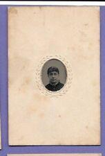 VICTORIAN 1880s PORTRAIT ORIGINAL OLD MINIATURE TIN TYPE PHOTO London HJ11