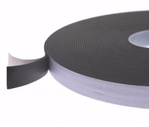 Sponge Rubber closed cell sealing tape self adhesive 3mm thick x 25m long FOA0xx