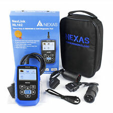 NEXAS Car & Heavy Duty Truck OBD2  6 & 9 pin Diesel Gas HD Code Reader Scan Tool