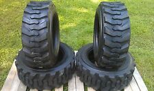 4 NEW 10-16.5 Skid Steer Tires 10PR- 10X16.5-For Bobcat, CAT,John Deere & more