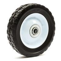 "6 x 1.5 Inch Lawnmower Steel Wheel & Solid PU Tyre 6"" Diamond Tread Mower 6x1.5"