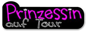 Aufkleber Prinzessin auf on Tour für Auto Kinderwagen etc. pink Mädchen Krone