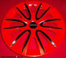 4 Radkappen FREE rot glanz-schwarz mit 2 x Klarlack 14 Zoll--NEU--TOP