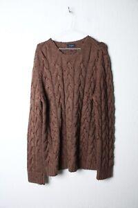 Vintage mens Oversized Cable Knit Jumper *Note Bobbling* - Size Large (10a)