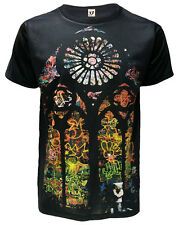 BANKSY STAINED GLASS WINDOW SUBLIMATION FRONT PRINT T-SHIRT/Graffiti Art/Tee/Top
