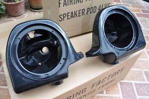 """6.5"""" Speaker Pods For Harley Davidson HD 97-13 Touring Vented Fairing Lower Leg"""