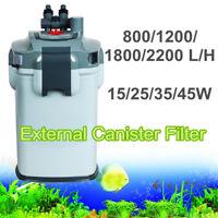 15-45W 800-2200L/H Aquarium External Canister Water Filter Sponge Fish Tank Pond