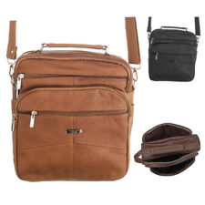 9a27a6e4f105 Mens Ladies Cross Body Shoulder Travel Work Casual Day Bag Handbag Black Tan