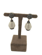 Turkish Handmade Jewelry Mallorca Pearl Non Allergic Bronze Woman Earring - 233