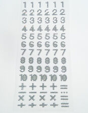 Diamante Self Adhesive Rhinestone Number Craft Stickers with Glitter Background