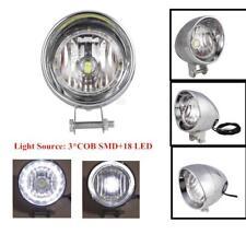 """Chrome 4"""" LED Driving Passing Fog Head light Lamp Motorcycle Rebel VTX Bobber"""