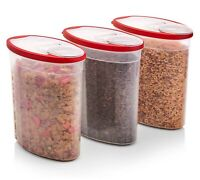 3 Pack 1.5 Gallon Rubbermaid Cereal Storage Dispenser Food Plastic Container