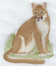 Embroidered Sweatshirt - Cougar Mountain Lion M2125