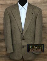 CHAPS Ralph Lauren Men's Tan Black Houndstooth Wool Blazer Sport Coat Jacket 40R