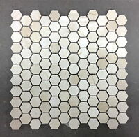 """CREMA MARFIL 1"""" HEXAGON MOSAIC FLOOR AND WALL (SOLD BY THE SHEET)"""