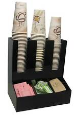 Coffee cup dispenser condiment caddy office lid holder stirrer counter organizer