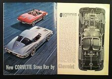 1963 Chevrolet Corvette Coupe convertible 2pg GM car mag ad Gift/Print 1962 1964