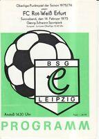 OL 75/76  BSG Chemie Leipzig - FC Rot-Weiß Erfurt