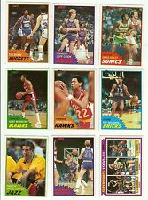 1981-82 Topps basketball you pick 10 picks $2.00 nm to mint
