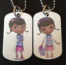 Doc McStuffins 2-Sided Color Photo Dog Tag Necklace / Key chain FREE SHIPPING!