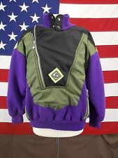 JD Sun Valley Ski Sweater Jacket Outerwear Purple Green 1/2 Zip Women's Sz M