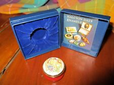 1876 Eagle Patriot Halcyon Days Smithsonian Enamel Box England Mib Lovely Gift!