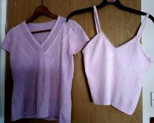 2 x  Ladies Tops - Light Mauve and pink Size 12/14