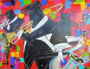 """Kendall Perkins """"Musicians Jazz it Up"""" Well Regarded Australian Artist"""