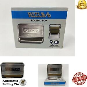 Rizla Rolling Tin Automatic Metal Tin for Rolling Rizla Papers