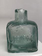 "More details for victorian green glass ink bottle - embossed ""j.field"" - jackfield ?"