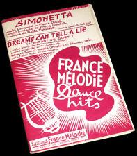 Simonetta + Dreams can tell a lie combo orchestre 1953 Belle Fenstock