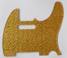 Gold Sparkle Plastic Standard 8 Hole Tele Scratch Plate Pickguard for Telecaster