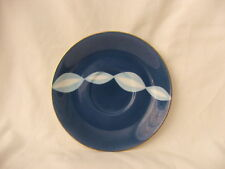 Retro Noritake Teacup Saucer Only!! ~ Funky Blue & White Swirls ~ Japan 1951