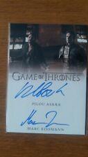 Game of Thrones Autograph Season 8 Pilou Asbaek / Marc Rissman Dual