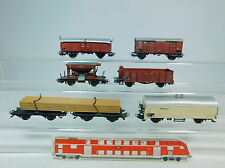 AU748-1# 6x Märklin H0 Güterwagen FS+DB: Schotterwagen 1500+Kühlwagen 308359+…