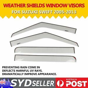 Clear Window Visor Sun Rain Weathershield Deflector For Suzuki Swift 05-13 Hatch