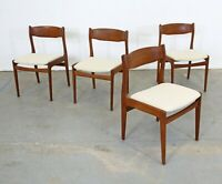 Set of 4 Mid-Century Danish Modern Teak Side Dining Chairs