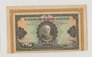 RC0315 Waterlow & Sons 1923 large size test note combine shipping
