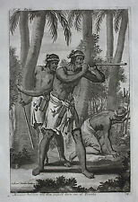 Original antique print, MAKASSAR SOLDIERS, EAST INDIES, INDONESIA, Nieuhof, 1744