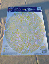 Toilet Tattoos Round #TT-1034-R   Antique Gold Paisley