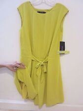 NEW ZARA Lime Green Short Jumpsuit With Waist Details SZ S REF. 0787/034 Blogger