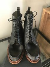 MM6 Maison Martin Margiela Translucent Lace Up Combat Boots - Size 39.5