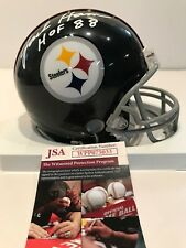 JACK HAM AUTOGRAPHED SIGNED INSCRIBED PITTSBURGH STEELERS MINI HELMET JSA COA